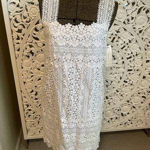 NWT Cluny white lace knee length dress